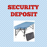 Economy Table Rental Security Deposit at MassageTableRentals.com