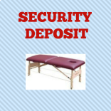 Conference Table Rental Security Deposit at MassageTableRentals.com