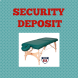 Premium Flat Rental Security Deposit at MassageTableRentals.com