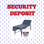Premium Table Rental Security Deposit at MassageTableRentals.com